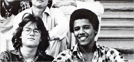 Obama and Friend in College