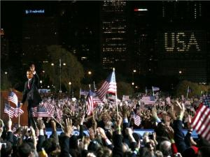 obama-walking-off-after-victory-speech