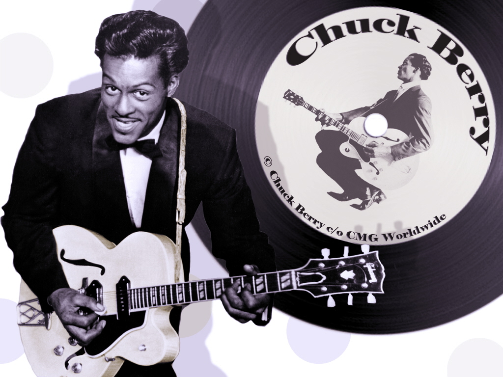 chuck berry Chuck berry goddamn sixty years ago, he invented rock 'n' roll after that, he was cheated, arrested, and imprisoned he all but vanished he still plays, though.