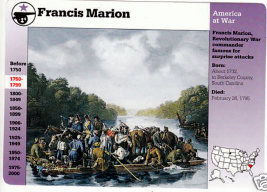 a biography of the life and military role of francis marion Dr joseph stukes, retired professor of history at francis marion university and local historian gives a brief biography of general francis marion dr.